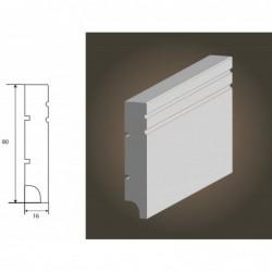 Listwa MDF Biała 16x80 Nova R1